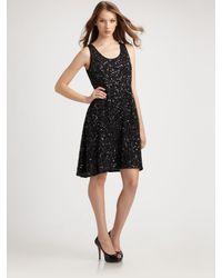 Eileen Fisher | Black Sequin Tank Dress | Lyst