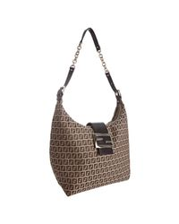 Fendi - Brown Mahogany Zucchino Canvas Forever Shoulder Bag - Lyst