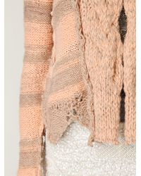 Free People | Pink Cozy Braided Cardi | Lyst
