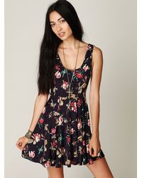 Free People | Purple Emma's Dress | Lyst