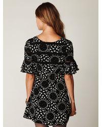 Free People | The Geo Garden Dress in Black Combo | Lyst
