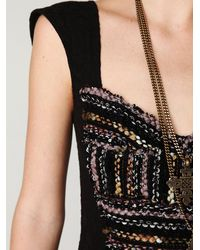 Free People | Black Gold Rush Dress | Lyst