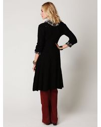 Free People | Black Victorian Angel Cardigan | Lyst