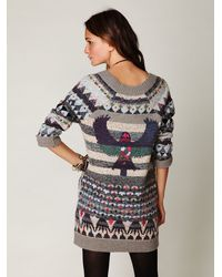Free People | Blue Eagle Fairisle Tunic | Lyst