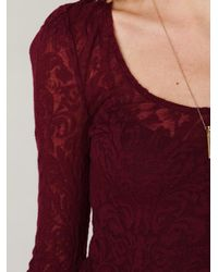 Free People - Multicolor Floral Lace Fit and Flare Dress - Lyst
