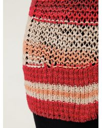 Free People - Red Stripe Tape Yarn Pullover - Lyst