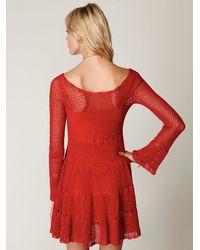 Free People - Red Belle Sweater Knit Dress - Lyst