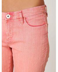 Free People - Orange Ankle Crop Skinny Jeans - Lyst
