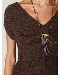 Free People | Brown Autumn Garden Dress | Lyst