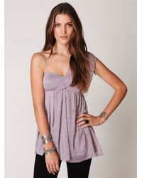 Free People | Purple Fairuzas One Shoulder Tunic | Lyst