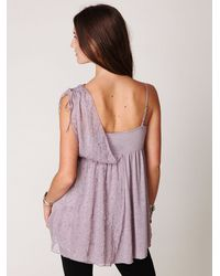 Free People - Purple Fairuzas One Shoulder Tunic - Lyst