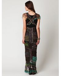 Free People - Multicolor Fp Spun Fools Gold Crochet Dress - Lyst