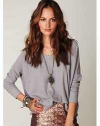 Free People - Gray Solid Love Bug Thermal - Lyst