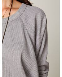 Free People | Gray Solid Love Bug Thermal | Lyst