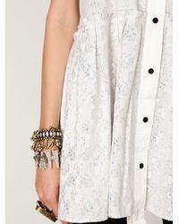 Free People | White Fp New Romantics Tailored Dress | Lyst