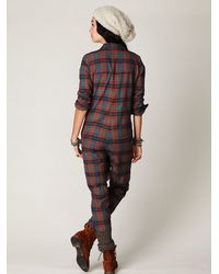 Free People | Multicolor Lehigh Flannel Onesie | Lyst