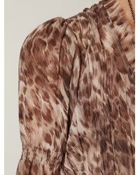 Free People - Brown Dreamtime Leopard Maxi Dress - Lyst