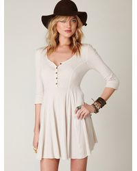 Free People | White Springtime Swing Dress | Lyst