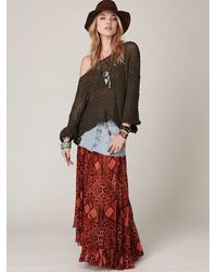 Free People - Green Tape Yarn Beach Sweater - Lyst