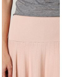 Free People | Pink Making Time Fit-n-flare Skirt | Lyst