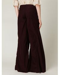 Free People | Purple Fp Extreme Corduroy Flare | Lyst