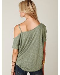Free People - Green We The Free Off The Shoulder Extreme Tunic - Lyst