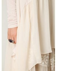 Free People - Natural Long Sleeve Chiffon Hem Trapeze Tunic - Lyst