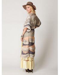 Free People - Metallic Kimono Cardigan - Lyst