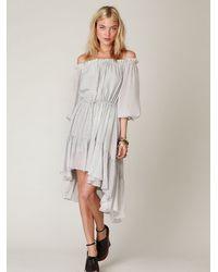 Free People - Gray Shaku Peasant Dress - Lyst