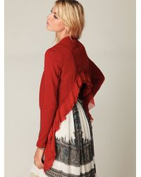 Free People | Cropped Back Layered Jacket | Lyst
