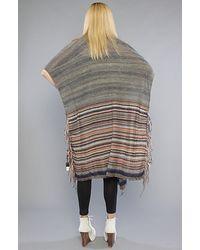Free People - Gray Wandering Blanket Wrap - Lyst