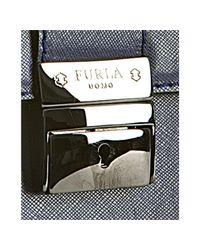 Furla - Deep Blue Crosshatched Leather London Carryall Bag for Men - Lyst