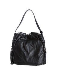 Furla - Black Onyx Leather Arcadia Chain Woven Shoulder Bag - Lyst