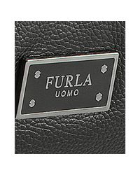Furla - Black Onyx Leather London Convertible Tote for Men - Lyst