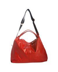 Furla   Red Leather Elisabeth Crossbody Shopper Tote   Lyst
