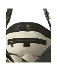 Gucci | Black Pebbled Leather Ride Logo Buckle Shoulder Bag | Lyst