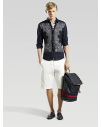 Gucci - Blue Cotton Bandana Shirt for Men - Lyst