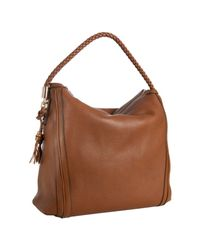 Gucci - Brown Leather Bella Braided Handle Large Hobo - Lyst