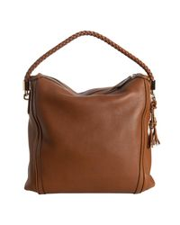 Gucci | Brown Leather Bella Braided Handle Large Hobo | Lyst