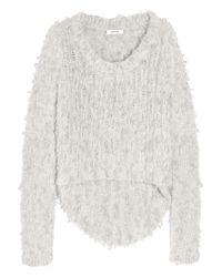 Helmut Lang | Gray Angora Floats Pullover | Lyst