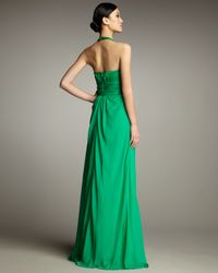 Hoaglund New York | Green Halter Chiffon Gown | Lyst