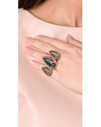 House of Harlow 1960 - Metallic Triple Arrowhead Ring with Pave - Lyst