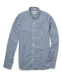 J.Crew | Blue Slim-fit Button-down Collar Gingham Linen Shirt for Men | Lyst