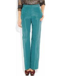 J.Crew | Blue Hutton Silk-faille Wide-leg Pants | Lyst
