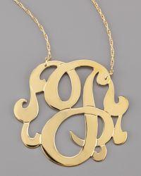 Jennifer Zeuner   Metallic Swirly Initial Necklace   Lyst