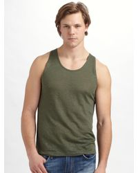 Joe's Jeans | Green Linen Tank for Men | Lyst