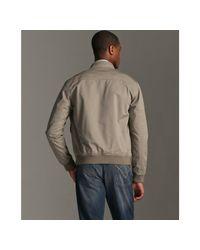 John Varvatos | Natural Dried Sage Cotton Bomber Jacket for Men | Lyst