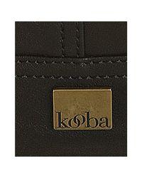 Kooba - Black Leather Lana Buckle Detail Shoulder Bag - Lyst
