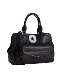 Longchamp | Black Leather Gatsby Handbag | Lyst