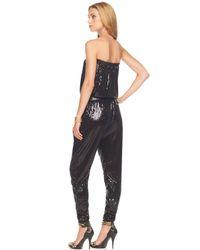 Michael Kors | Black Belted Sequin Jumper | Lyst